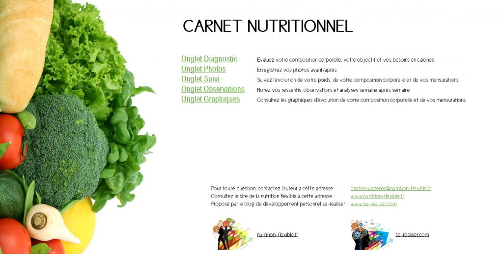 Carnet nutritionnel