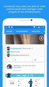 application JEFIT réseau social